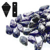 Cristal Checo - Kite Beads - 9x5mm - Silver Splash Cobalt (5 gr.)