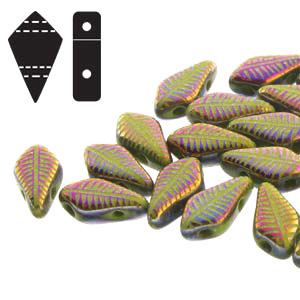 Cristal Checo - Kite Beads - 9x5mm - Wasabi Laser Feather (5 gr.)