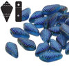 Cristal Checo - Kite Beads - 9x5mm - Capri Blue Laser Feather (5 gr.)