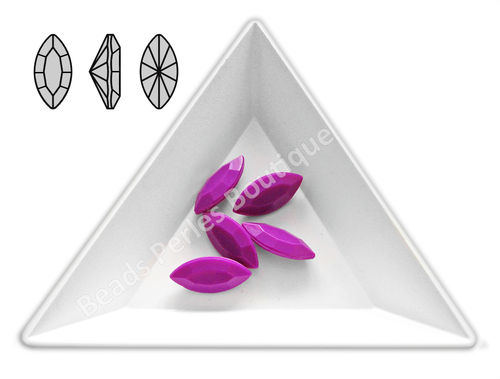 Cabuchón - Acrílico Pointback - Navette 07x15 mm - Radiant Orchid (4 Uds.)