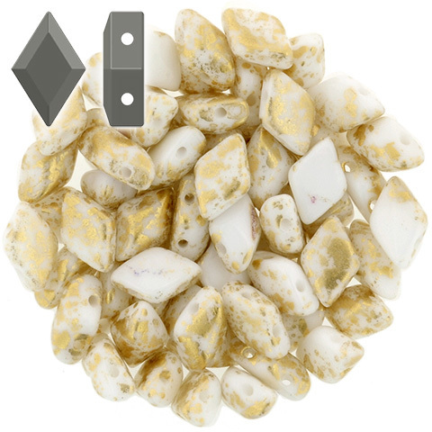 Cristal Checo - GemDUO - 8x5mm - Gold Splash White (10 gr.)