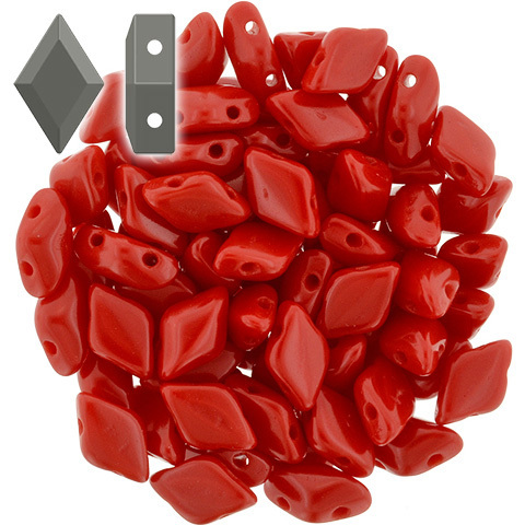Cristal Checo - GemDUO - 8x5mm - Opaque Red (10 gr.)