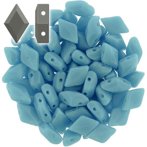 Cristal Checo - GemDUO - 8x5mm - Opaque Blue Turquoise (10 gr.)