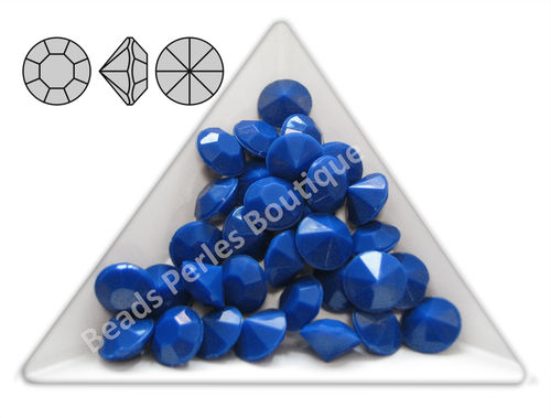 Cabuchón - Acrílico Pointback - Chaton 8 mm - Royal Blue (6 Uds.)
