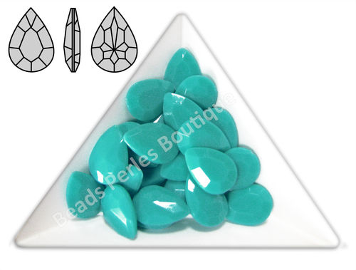 Cabuchón - Acrílico Pointback - Drop 10x14 mm - Turquoise (4 Uds.)