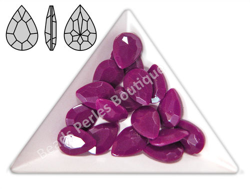 Cabuchón - Acrílico Pointback - Drop 10x14 mm - Radiant Orchid (4 Uds.)