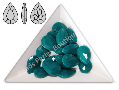 Cabuchón - Acrílico Pointback - Drop 10x14 mm - Dark Teal (4 Uds.)
