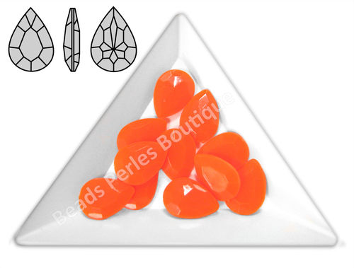 Cabuchón - Acrílico Pointback - Drop 10x14 mm - Tiger Orange (4 Uds.)