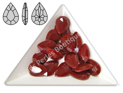 Cabuchón - Acrílico Pointback - Drop 10x14 mm - Marsala (4 Uds.)