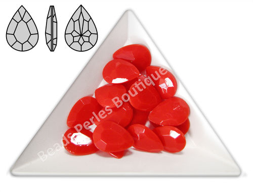 Cabuchón - Acrílico Pointback - Drop 10x14 mm - Scarlet (4 Uds.)