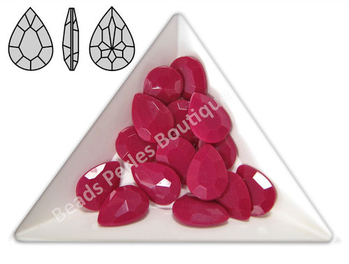 Cabuchón - Acrílico Pointback - Drop 10x14 mm - Fuchsia (4 Uds.)