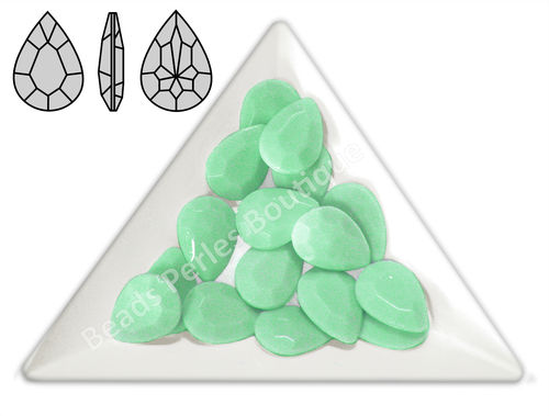 Cabuchón - Acrílico Pointback - Drop 10x14 mm - Mint Green (4 Uds.)