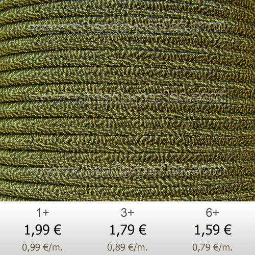 Textil - Soutache Metalizado - 3mm - Oro Antico (2 metros)