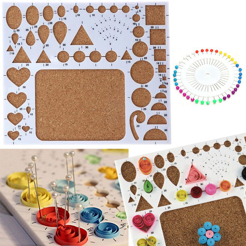 Quilling - Tablero 212x182mm 1 uds + agujas 40 uds
