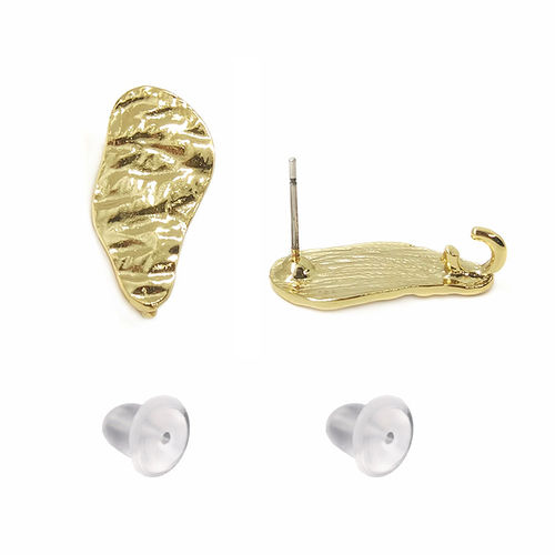 Fornitura - Pendiente Stud - 21x10mm - Color Oro (1 par)