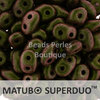 Cristal Checo - Superduo - 2,5x5mm - Polychrome Olive to Mauve (10 gr.)