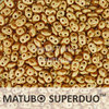 Cristal Checo - Superduo - 2,5x5mm - Pastel Dark Beige (10 gr.)