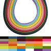 Quilling - Tiras de papel LOW COST - 3mm - 36 colores / 180 tiras (1 paquete)