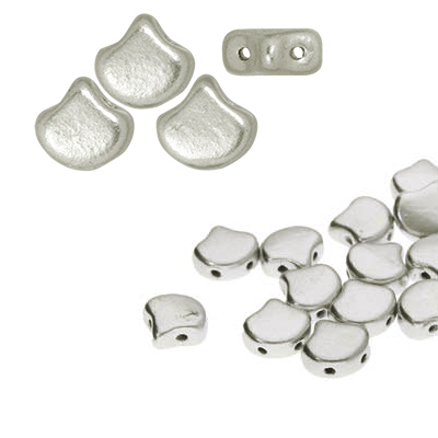 Cristal Checo - Ginko - 7,5x7,5mm - Silver Satin (37uds - 10gr.)