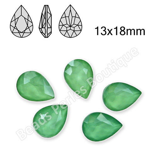 Cabuchón - Cristal GEL - Drop 13x18mm - Peridot (2 Uds.)