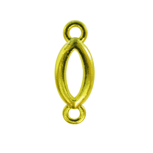 Conector - Ojo - 20x8mm - Color oro (2 Uds.)